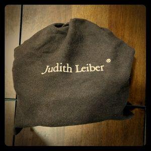 Judith Leiber Black snakeskin purse